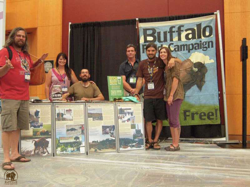Buffalo Field Campaign Tabling Outdoor Retailer Show