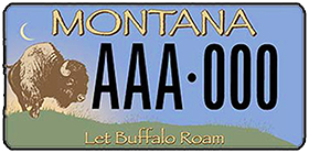 Buffalo Field Campaign Montana License Plate