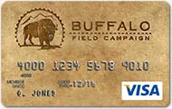 Buffalo Field Campaign Visa Card