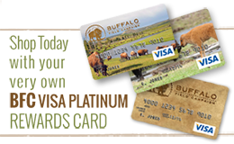 buffalo field campaign visa platinum rewards card